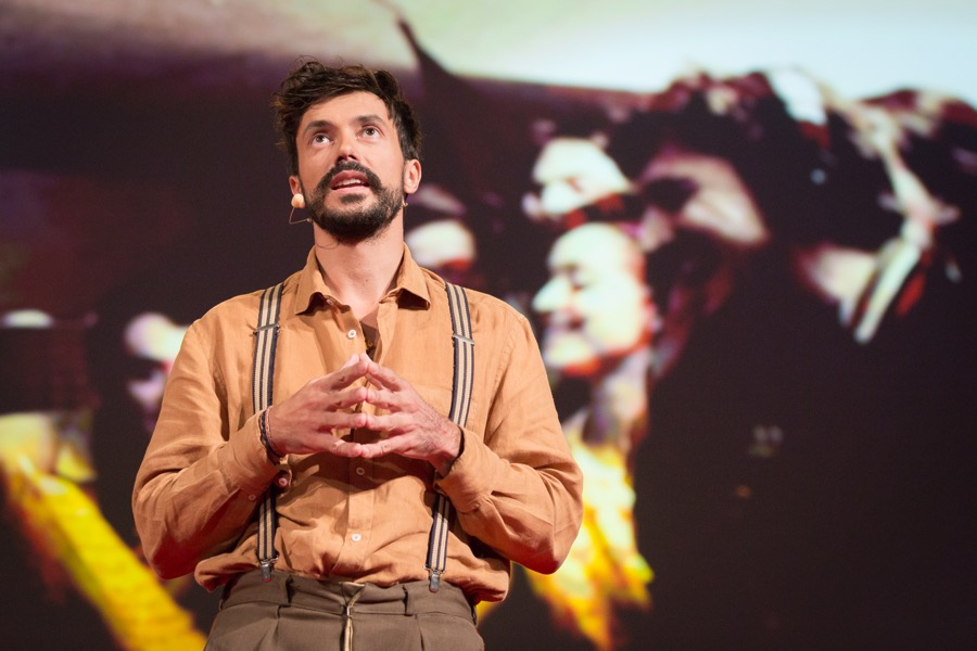Vincent Moon speaking at TEDGlobal 2014, South, Session 8 - Lenses, October 5-10, 2014, Rio de Janeiro, Brazil. Photo: James Duncan Davidson/TED